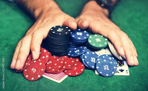 фотография  Diverse adults gambling shoot