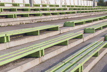 Old Benches At The Stadium