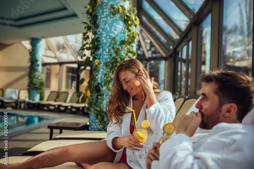 Fotografie, Obraz  Enjoying a sunny day at a spa