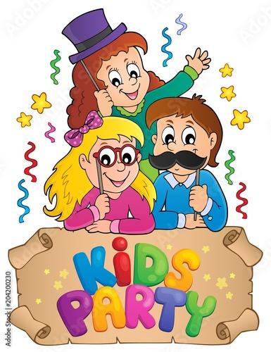 Staande foto Voor kinderen Party photo booth theme 3