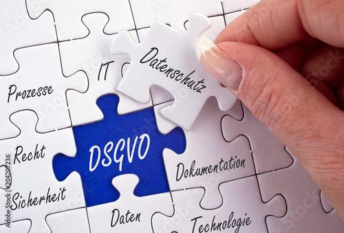Cuadros en Lienzo  DSGVO, Datenschutz, Datenschutzgrundverordnung, Grundverordnung, Datenspeicherun