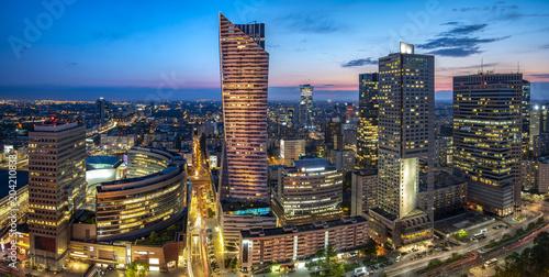 Obraz modern skyscrapers in the center of the Polish capital, Warsaw.. - fototapety do salonu
