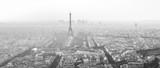 Fototapeta Fototapety Paryż - Eiffel Tower Paris Black and White