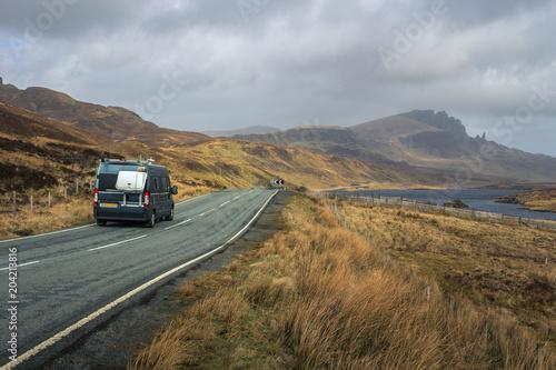 Campervan Scotland Fotobehang