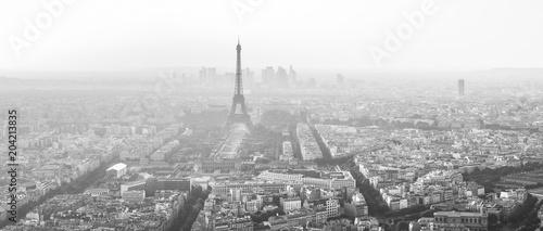 Wieża Eiffla Paryż czarno-biały