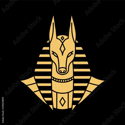 anubis logo vector illustration Canvas Print
