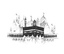 Holy Kaaba In Mecca Saudi Arab...