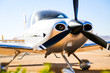 canvas print picture - Cirrus sport aircraft