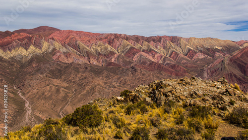 Foto op Aluminium Cappuccino Hornocal, Mountain of fourteen colors, Quebrada de Humahuaca, Northern Argentina