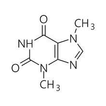 Caffeine Molecule. Simple Chem...