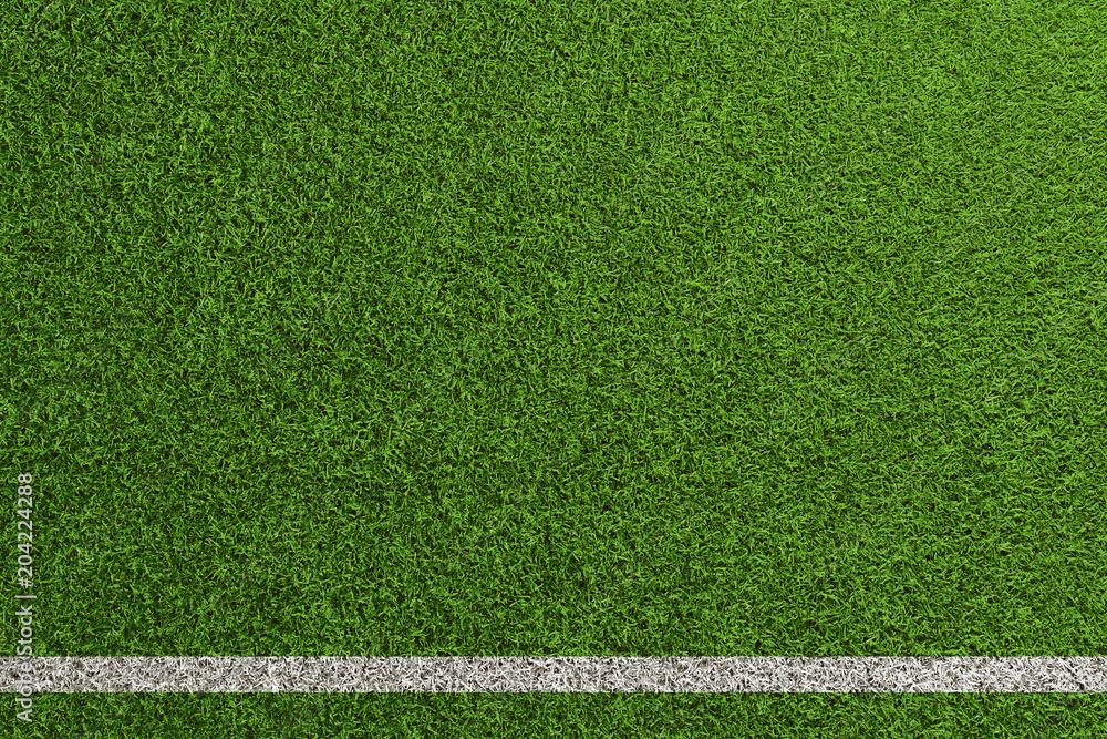 Fototapety, obrazy: Fußball Rasen Spielfeld Hintergrund