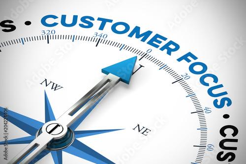 Englisch slogan Customer focus (Kundenorientierung) Canvas Print