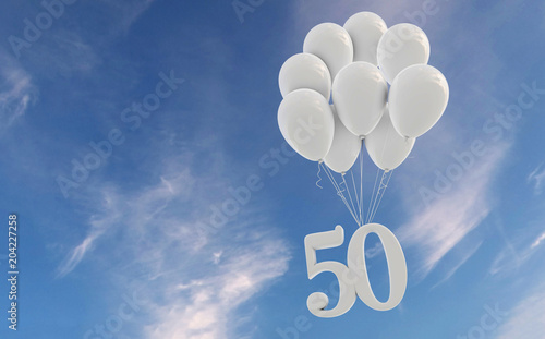 Photographie  Number 50 party celebration