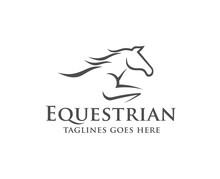 Horse Racing Logo Template. Ve...