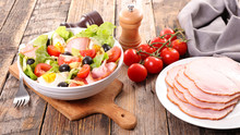 Vegetable Salad With Ham