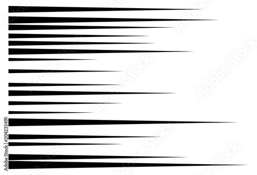 Obraz horizontal motion speed lines for comic book - fototapety do salonu