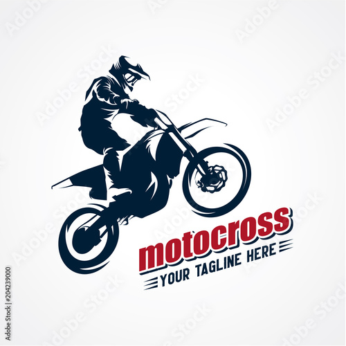 Extreme Motocross Logo Designs Template Wall mural