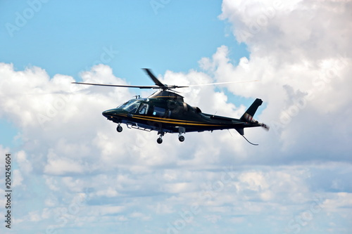 Deurstickers Helicopter Вертолет, прием морского лоцмана, Австралия