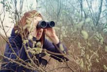 Girl With The Binoculars Again...