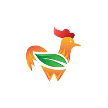 Leaf Rooster Logo