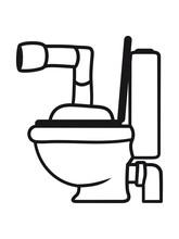 Klo Toilette Wc Schüssel Desi...