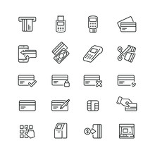 Credit Card Related Icons: Thi...