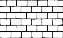 Texture Repeat Seamless White Brick Wall Design Background Pattern Backdrop Wallpaper. Vector Image Illustration