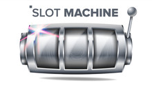 Slot Machine Vector. Silver Lu...