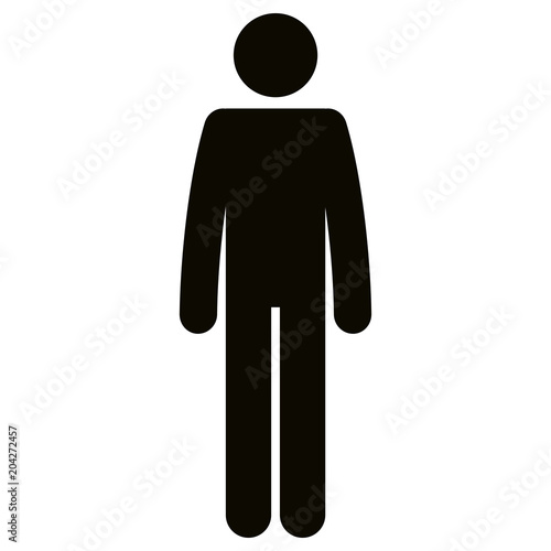 Obraz figure human silhouette avatar vector illustration design - fototapety do salonu
