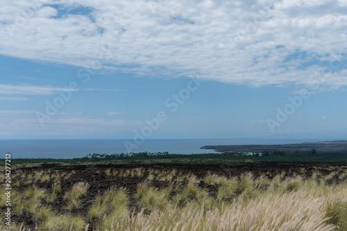 Photo  Beautiful Kohala Coast vista on the Big Island of Hawaii in the aftermath of the