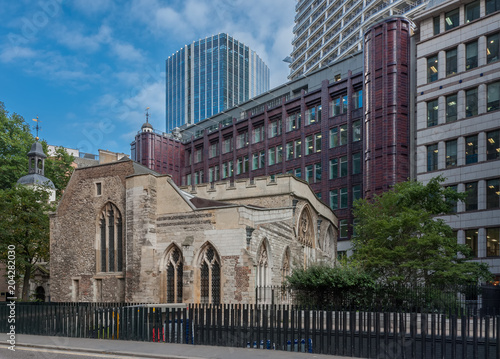 Keuken foto achterwand Stad gebouw St Helen's Bishopsgate , Church of England church in the city of London