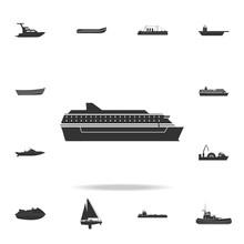 Ferry Ship Icon. Detailed Set ...