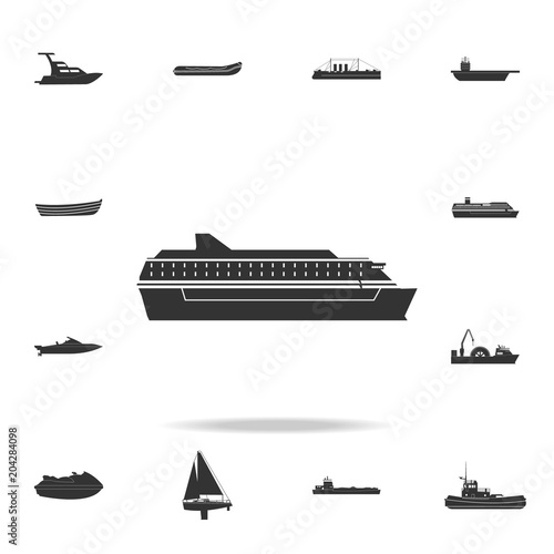 ferry ship icon Wallpaper Mural