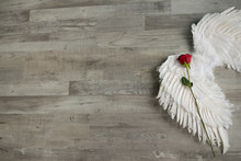 Angel Wings And Roses