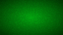 Abstract Background Of Small Circles Or Pixels Of Different Sizes In Green Colors.