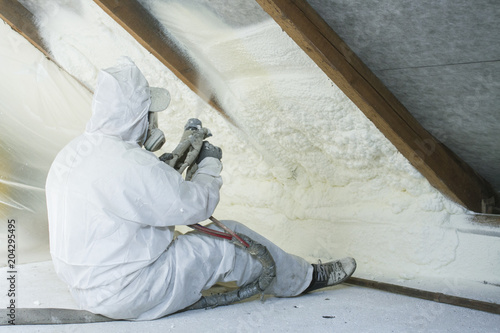Obraz spray polyurethane foam for roof - fototapety do salonu