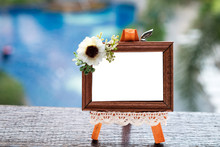 Small Cute Wood Picture Frame Outdoor.