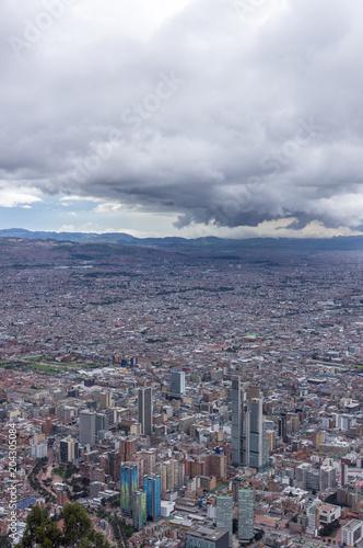 Foto op Canvas Zuid-Amerika land Vue sur Bogota depuis le Cerro de Monserrate