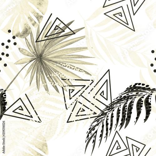 tropikalny-wzor-liscie-palmy-monstera-na-bialym-tle-retro