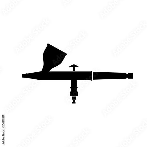 Airbrush (Aerograph) instrument icon Wallpaper Mural