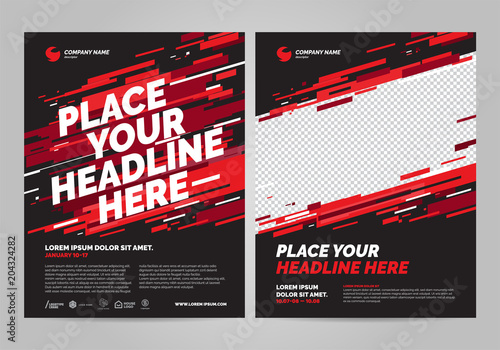 Valokuva Poster design sports invitation template