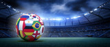 Fototapeta Sport - Soccer ball in the stadium