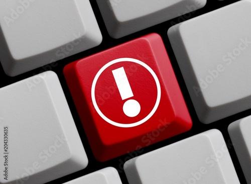 Ausrufezeichen online auf Tastatur