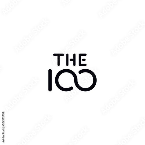 Cuadros en Lienzo 100 logo for company or anniversary
