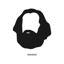 Karl Marx Figure Icon. Symbol....