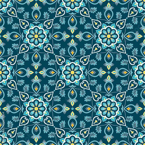 italian-tile-pattern-vector-seamless-with-flower-ornament-portuguese-azulejo-mexican-puebla