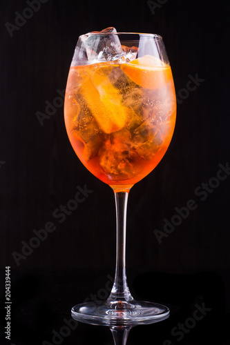 Keuken foto achterwand Bar glass of aperol spritz cocktail