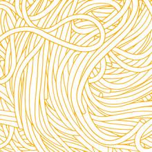 Hand Drawn Spaghetti Vector Ba...