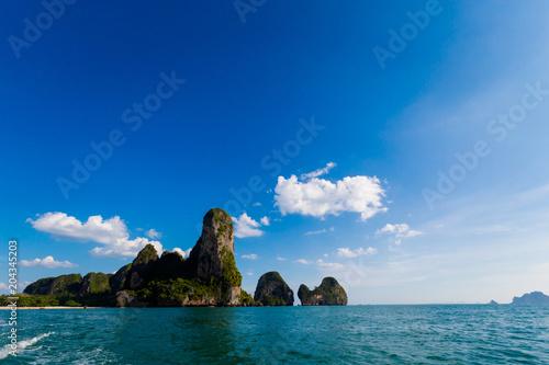Foto op Aluminium Cathedral Cove Tropical Railay beach Krabi Thailand