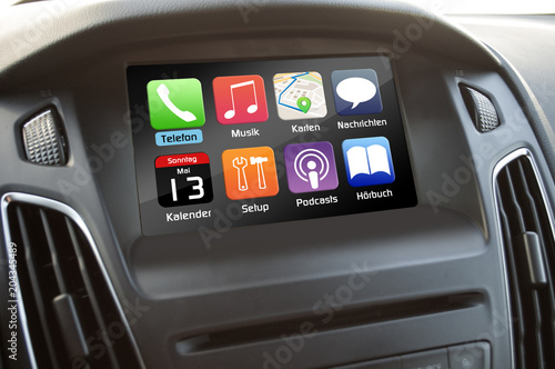 Cuadros en Lienzo  Bildschirm Monitor Touchscreen im Auto Apps App-connect